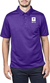 NCAA New York University Male Team Color Carbon Polo, New York University Violets Purple, XX Large