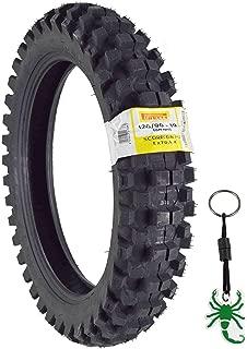 Pirelli Scorpion MX32 Extra X Dirt Bike 120/90-19 66M Motorcycle Tube Type Tire with Authentic Pirelli Scorpion Key Chain