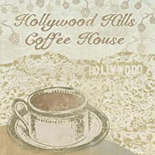 Hollywood Coffee House by Erin Clark Art Print, 10 x 10 inches