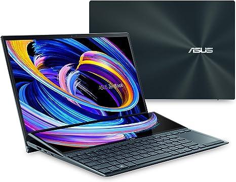 "ASUS ZenBook Duo 14 UX482 14"" FHD NanoEdge Touch Display, Intel Core i7-1165G7 CPU, NVIDIA GeForce MX450, 32GB RAM, 1TB SSD, Innovative ScreenPad Plus, Windows 10 Pro, Celestial Blue, UX482EG-XS77T"