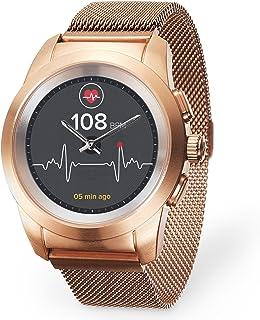 MyKronoz ZeTime Elite Hybrid Smartwatch 44mm met mechanische wijzers over een kleurenaanraakscherm – geborsteld roze goud/...