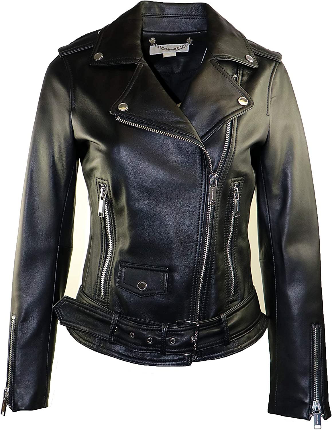 Michael Kors Women's Moto with Jacket 67% OFF of fixed price Belt Brand new Leather