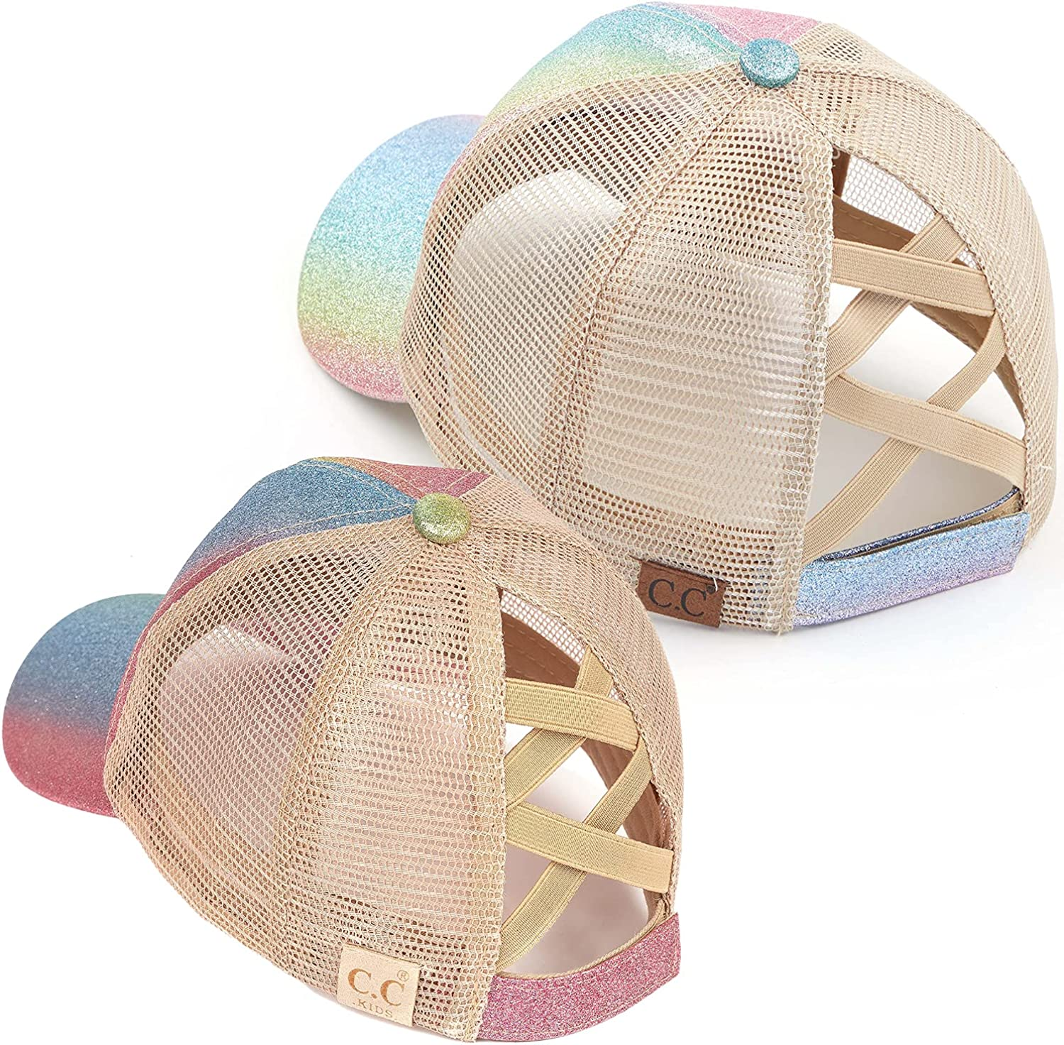 Mommy and me Criss Cross Hat Pink Ombre Daily bargain sale Glitter 2 Bundle: Multi Direct store