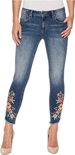 Miss Me - Ankle Skinny Jeans in Medium Dark