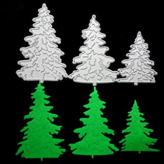 Pine Tree Metal Cutting Dies for Card Making, NOMSOCR Cut Die Metal Stencil Template Mould for DIY Scrapbook Embossing Album Paper Card Craft Birthday Festival Decoration (Pine Tree)