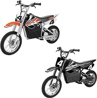 Razor MX650 Electric Dirt Rocket Motorcross Motorcycle Bikes, 1 Orange & 1 Black