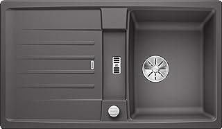 BLANCO 524901 Lexa 45 S Küchenspüle, felsgrau, 45 cm Unterschrank