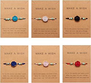 Make A Wish Bracelet Handmade Resin Druzy Bracelet Simple Women Jewelry Gifts Pack of 2/4/6/8