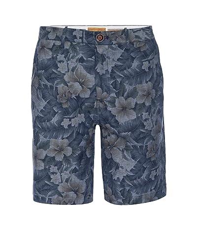 Nifty Genius Morgan Bermuda Shorts in Hawaiian Print Chambray (Indigo) Men