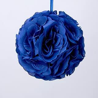 Simply Elegant Royal Blue Pomander Kissing Ball Flower 6