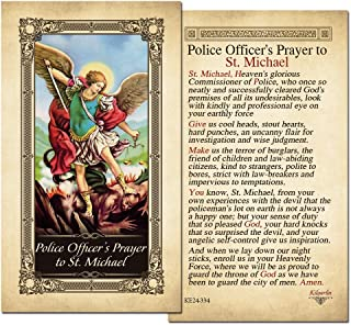 st michael police prayer card