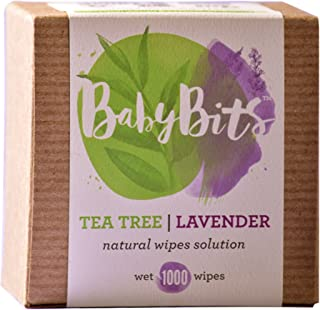 Baby Bits Wipes Solution,  2 Pack - Wets 2, 000 Natural Wipes