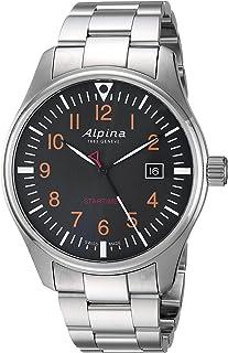 ساعت Startimer Alpina Men Swiss-Quartz با تسمه فولادی ضد زنگ، نقره ای 9 (مدل: AL-240N4S6B)