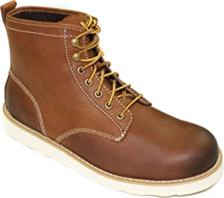 Men's Genuine Leather Plain Toe Boots