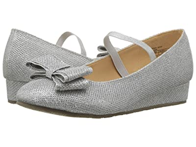 Badgley Mischka Kids Terry Bow Ballet (Little Kid/Big Kid) (Silver) Girls Shoes