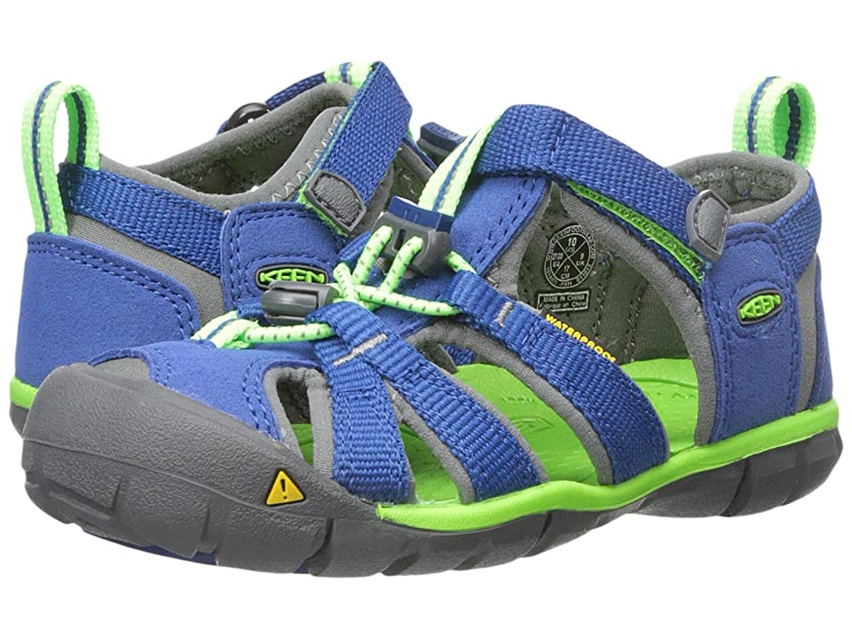 Keen Kids Seacamp II CNX (Toddler/Little Kid) (Blue/Jasmine Green) Kids Shoes