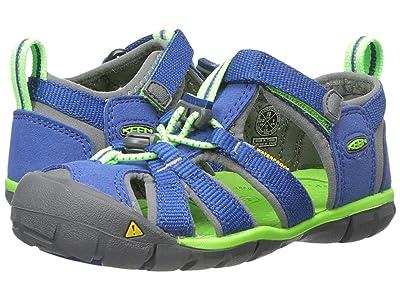 Keen Kids Seacamp II CNX (Toddler/Little Kid) (Blue/Jasmine Green) Kids Shoes