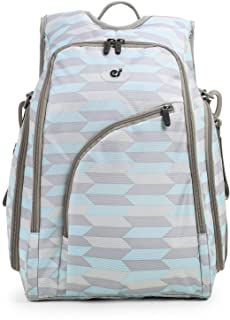 ECOSUSI Diaper Backpack Fully-opened Baby Diaper Bag Travel Nappy Bag with Changing Pad Blue & Grey