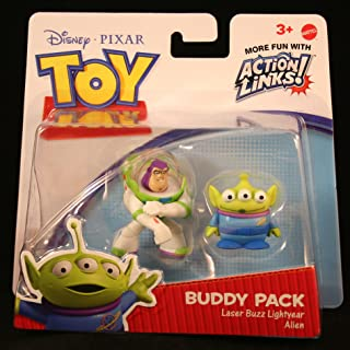 LASER BUZZ LIGHTYEAR & ALIEN Toy Story 3 Buddy Pack DISNEY / PIXAR Mini Figures *