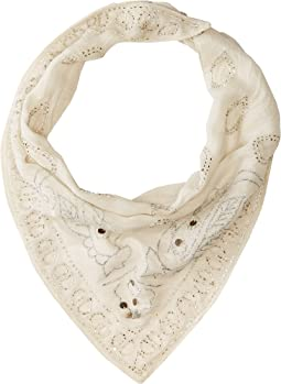 Viscose Guaze Triangle Beaded Neckerchief