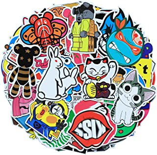 100 Pcs Funny Novel Mixed Vinyl PVC Cartoon Stickers Decorate Water Cup Skateboard Tablet Computer Luggage and Bags for Va...