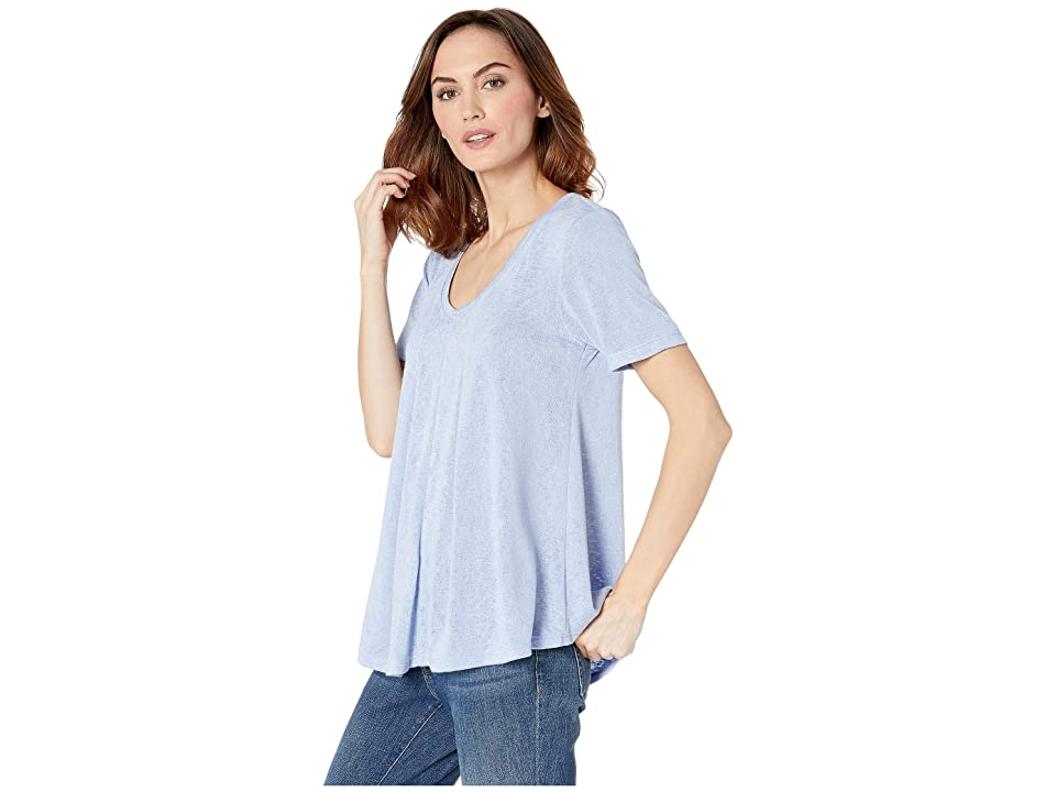 B Collection by Bobeau Annabel Swing Top (Lavender Luster) Women's Short Sleeve Pullover, Blue