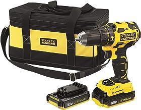 STANLEY FATMAX FMCK478D2BC-QW - Taladro percutor Brushless 18V, 30.600 ipm, con 2 baterías litio 2Ah y bolsa cargador