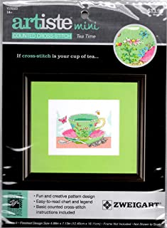 "Artiste Mini Tea Time Counted Cross Stitch Kit Finished Size 4.88"" by 7.13"""