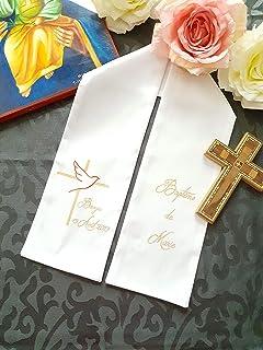 Echarpe de baptême personnalisable, peinte à la main pour bébé, enfant, adulte