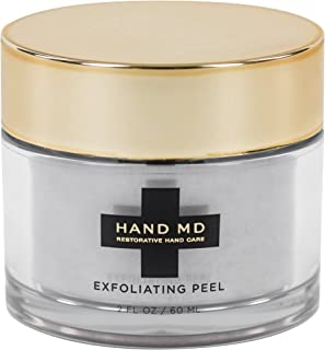 Hand MD Natural Exfoliating Peel Treatment for Soft Smooth Hands - Hydrate, Repair and Eliminate Fine Lines w/ Apricot Seed, Sea Kelp, and Probiotics (2 OZ)