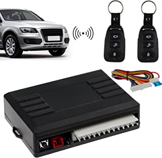 AUTOUTLET Universal Car Keyless Entry System Vehicle Remote Control Central Door Lock Unlock Kit with 2 Remote Controllers 60-80 Meter