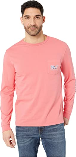 Long Sleeve Camo Crab Pocket Tee