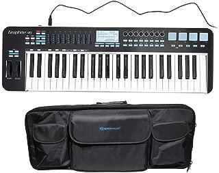 Samson Graphite 49 Key USB MIDI DJ Keyboard Controller w/Fader/Pads+Carry Bag