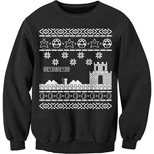 Retro Gamer - Vintage Gamer Gift Christmas Sweater Sweatshirt - Black 2X 1e640a335