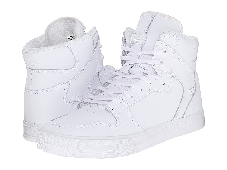 Supra Vaider (White/Red/White) Skate Shoes