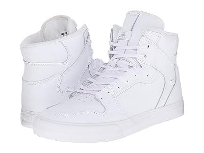Supra Vaider (White/Red/White) Skate Shoes