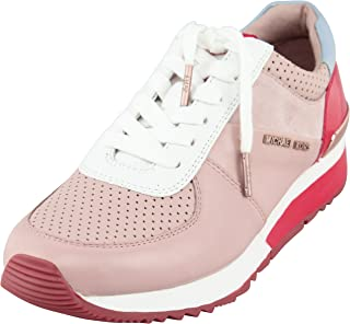 Womens Allie Trainer Leather Low Top, Ballet/Dark Sangria, Size 9.0