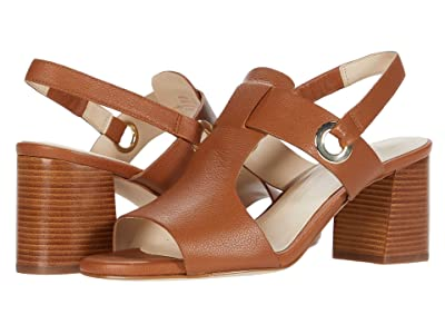 Cole Haan Adele Sandal (65 mm) (CH British Tan Tumble Leather/Dark Natural Semi Shine Stack) Women