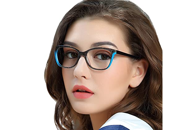 5549f086733f OCCI CHIARI Non-prescription Black Eyewear Frames with Clear Lens Designer  For Womens