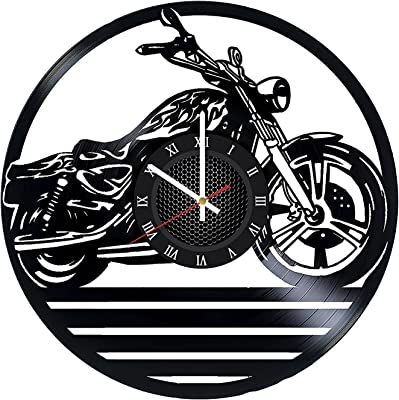 Antique Clocks Antiques Super Cruiser Motorcycle Wall Clock W/ Sound Collectible FREE SHIPPING