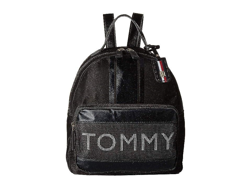 Tommy Hilfiger Julia Novelty Backpack (Black) Backpack Bags