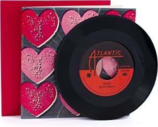 Hallmark Valentine's Day Card with Aretha Franklin Vinyl Record (Real 45 Record Plays Respect and Think)