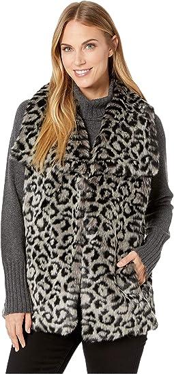 Snow Leopard Faux Fur Vest