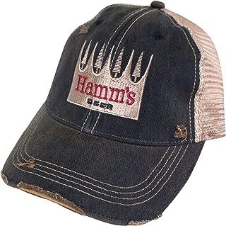 Hamm's Beer Logo Retro Brand Mens Mesh Trucker Hat