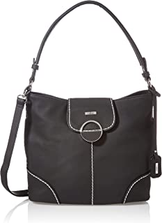 Rieker Damen H1032 Handtasche, Schwarz, 360x130x265