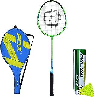 Fox 2020 Badminton Combo with Badminton Cover and Nylon Shuttlecock