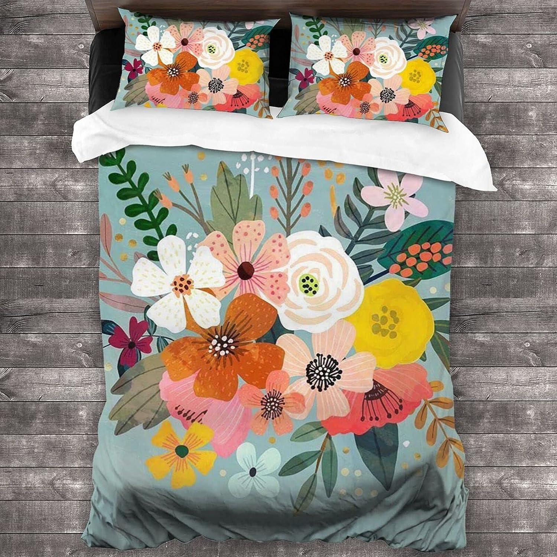 Dealing full price reduction Sale SALE% OFF Uyomarer Flower 6 3-Piece Bedding Duvet 20