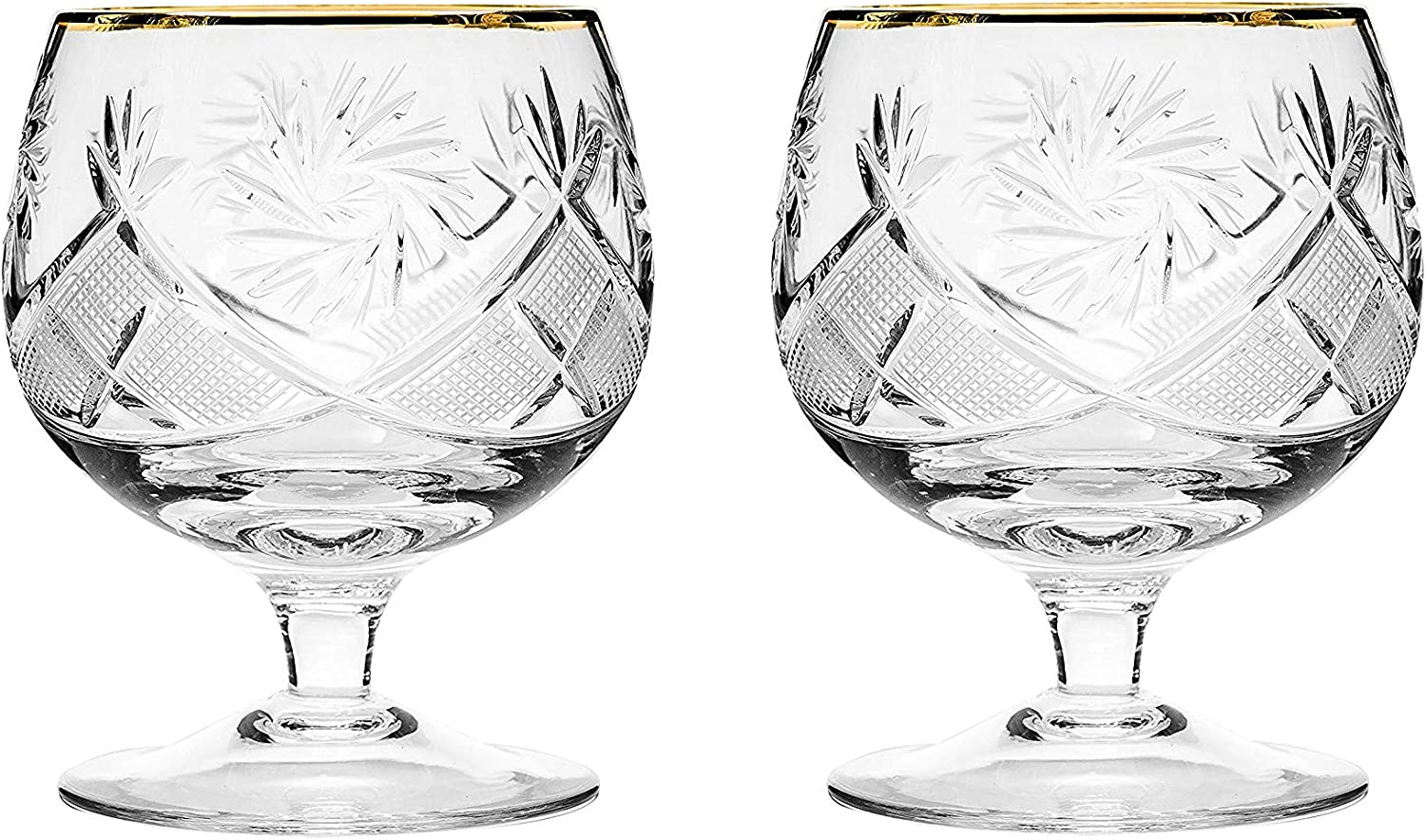 Set of 2 Hand Made Vintage Snif Crystal Glasses Max 58% OFF Max 62% OFF Brandy Cognac