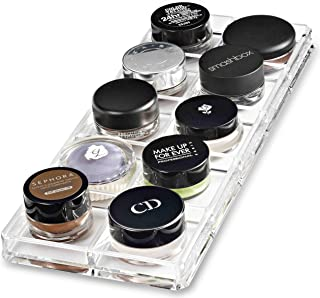 byAlegory Acrylic Paint PotCream Shadow Makeup Organiser | 10 Space Tray Cosmetic Beauty Care Storage