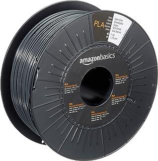Amazon Basics PLA 3D Printer Filament, 1.75mm, Dark Gray, 1 kg Spool